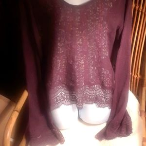 NWOT, Free People wool oversized bell slv sweater